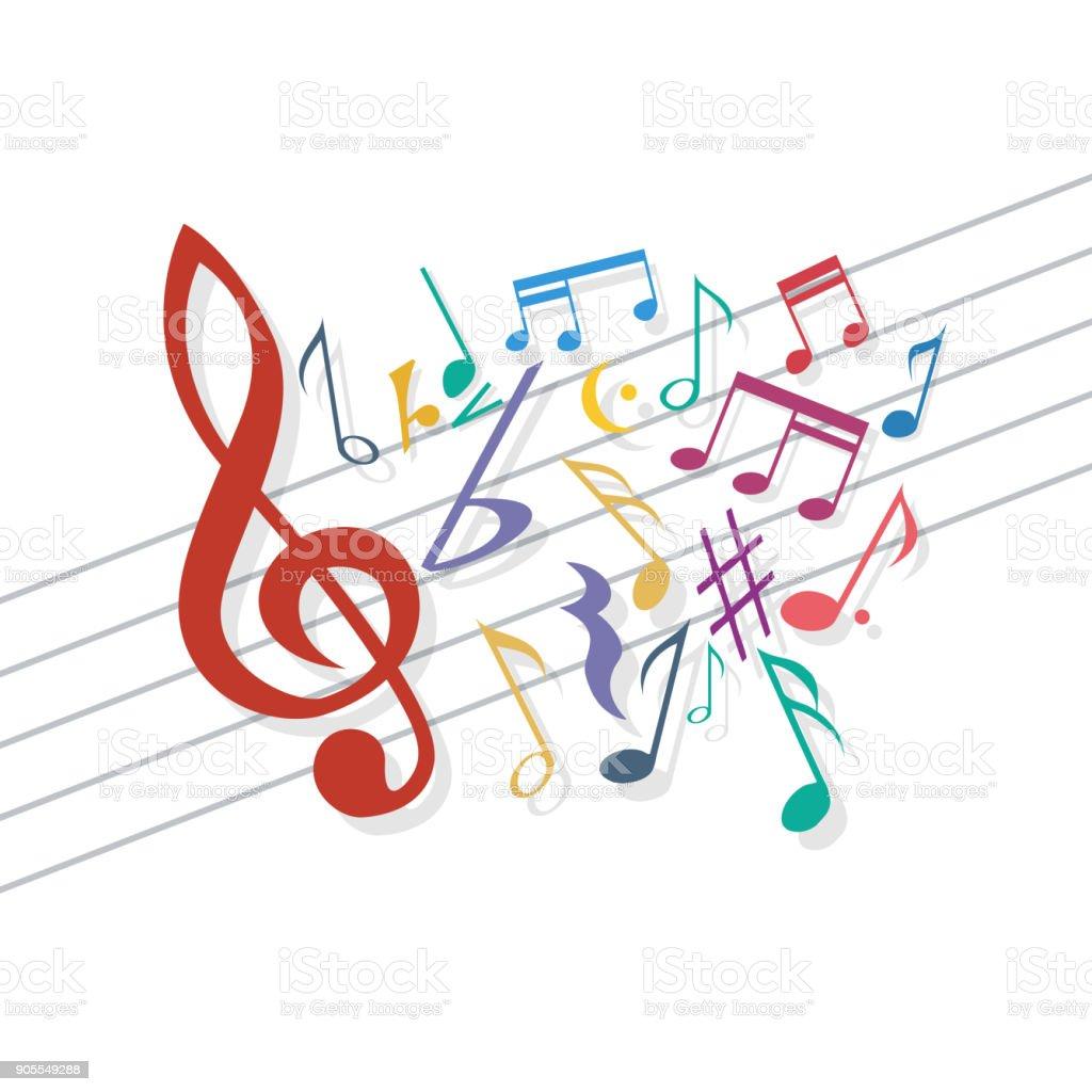 Vector musical background vector art illustration