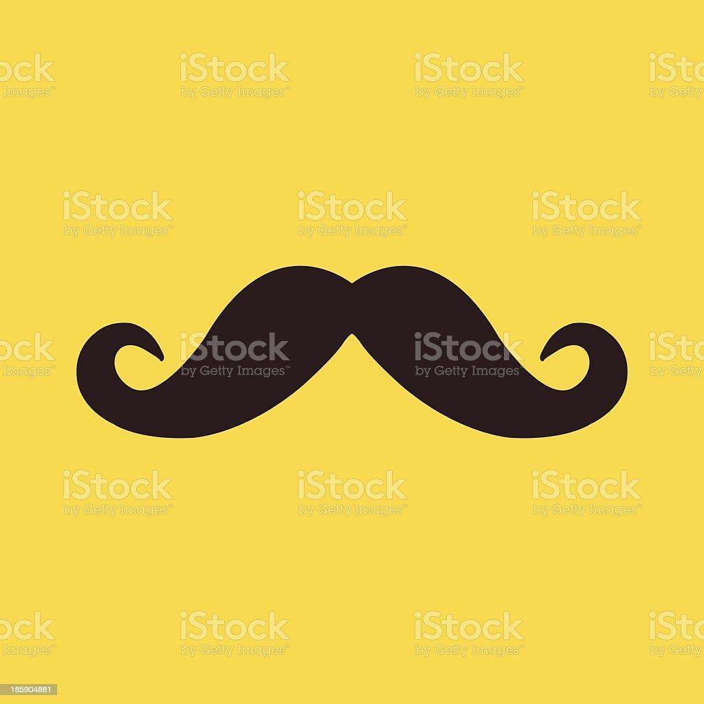 Vector Mustache Icon vector art illustration
