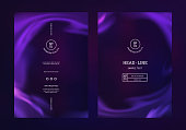 Vector Mystical Purple Background. Smoke Steam, Cloud Flow, Fluid Frame. Abstract 3d Bg for Night Party Posters, Banners and Advertisements.