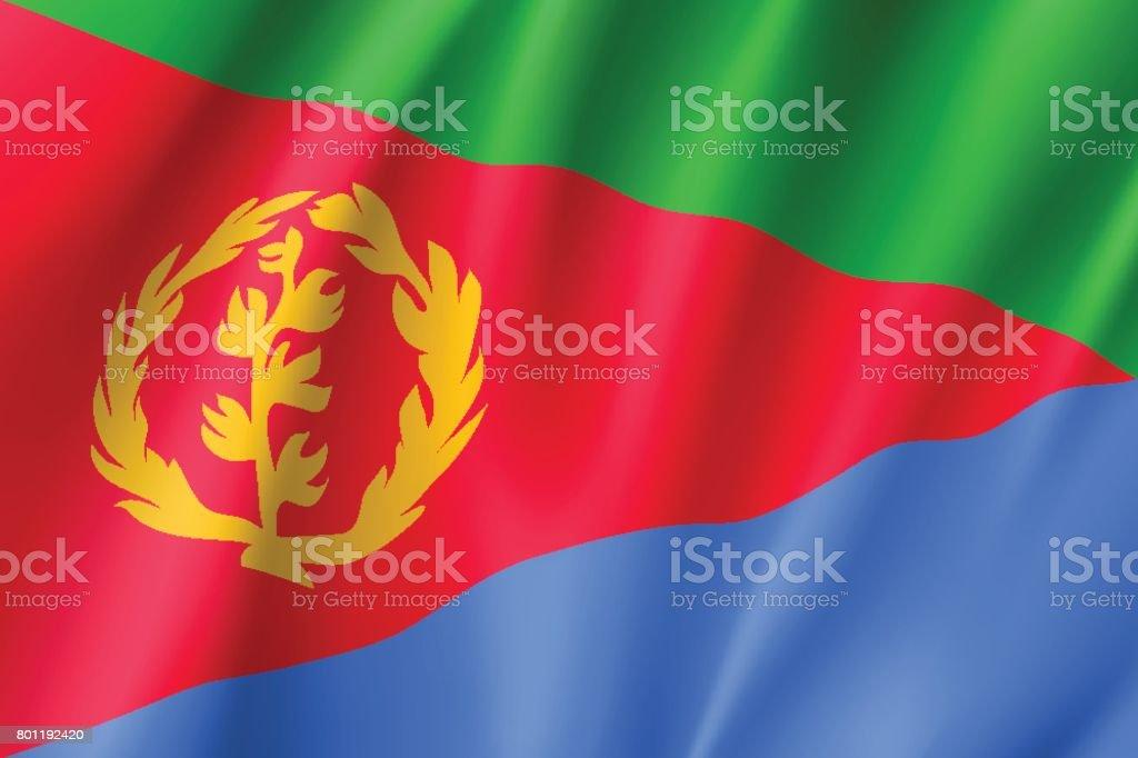 Vector national flag of Eritrea. vector art illustration