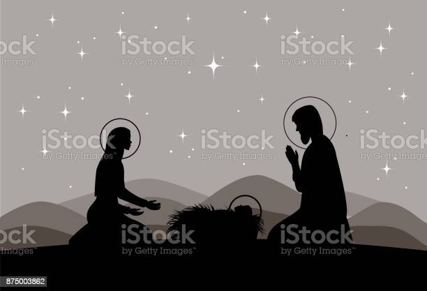 Vector nativity scene mary with jesus and joseph silhouette vector id875003862?b=1&k=6&m=875003862&s=612x612&h=m g9mqk2wjshwgjjhesefqil5snagzjxtjvwlupbjdi=