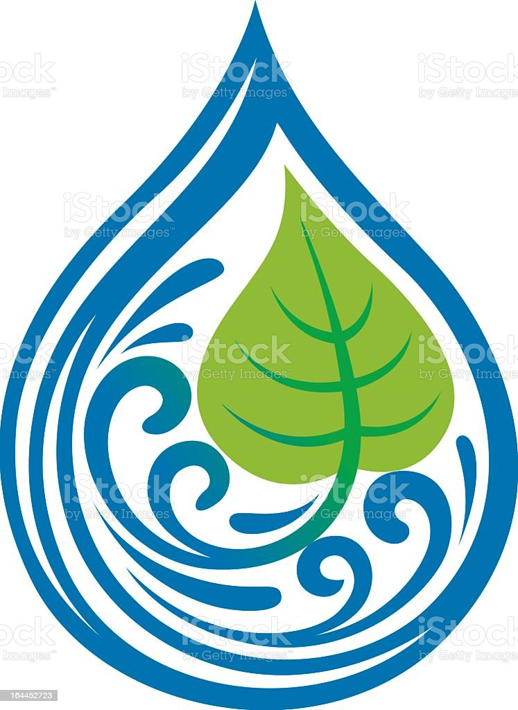 Vector natural water drop icon royalty-free vector natural water drop icon stock vector art & more images of blob