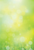 Green, bokeh, nature background.