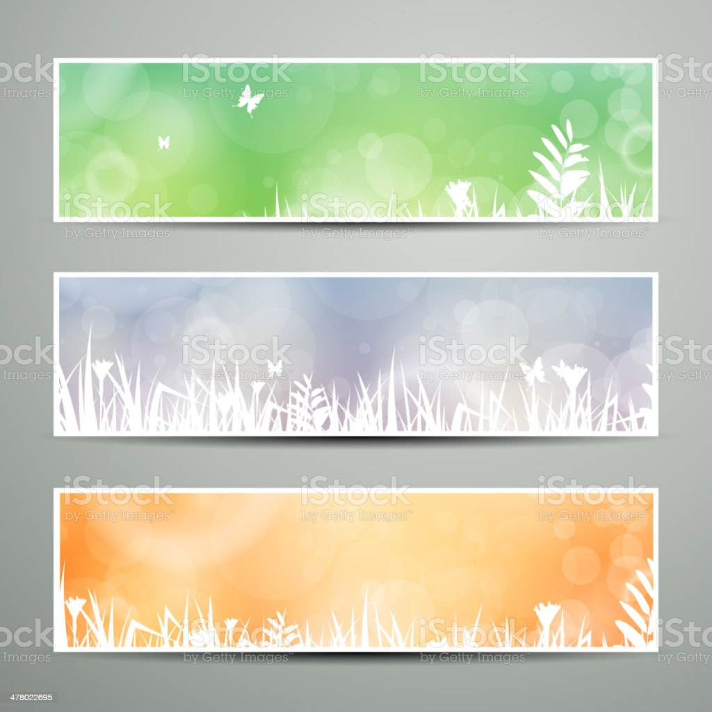 Vector Nature Banners royalty-free stock vector art