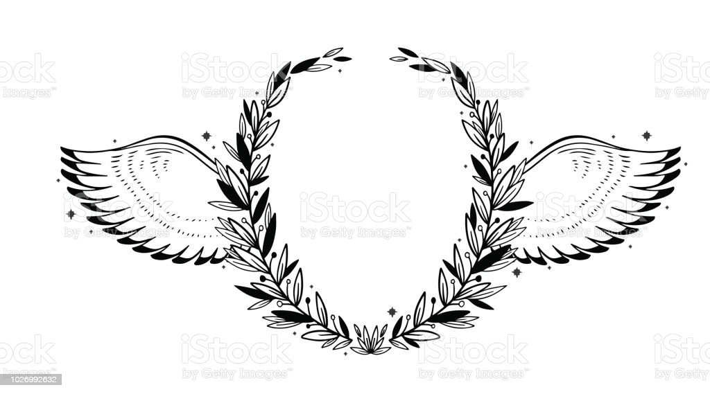 vector nature frame graphic circle wreath for text leaves and wings stock illustration download image now istock vector nature frame graphic circle wreath for text leaves and wings stock illustration download image now istock