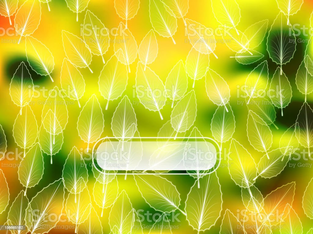 Vector nature leaves background royalty-free stock vector art