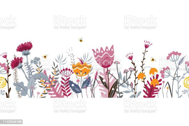 Vector nature seamless background with hand drawn wild herbs flowers vector id1142646168?b=1&k=6&m=1142646168&s=612x612&h=m 2nul3t6blzn5hizfoukrhogay3kn5a2aop3v21izg=