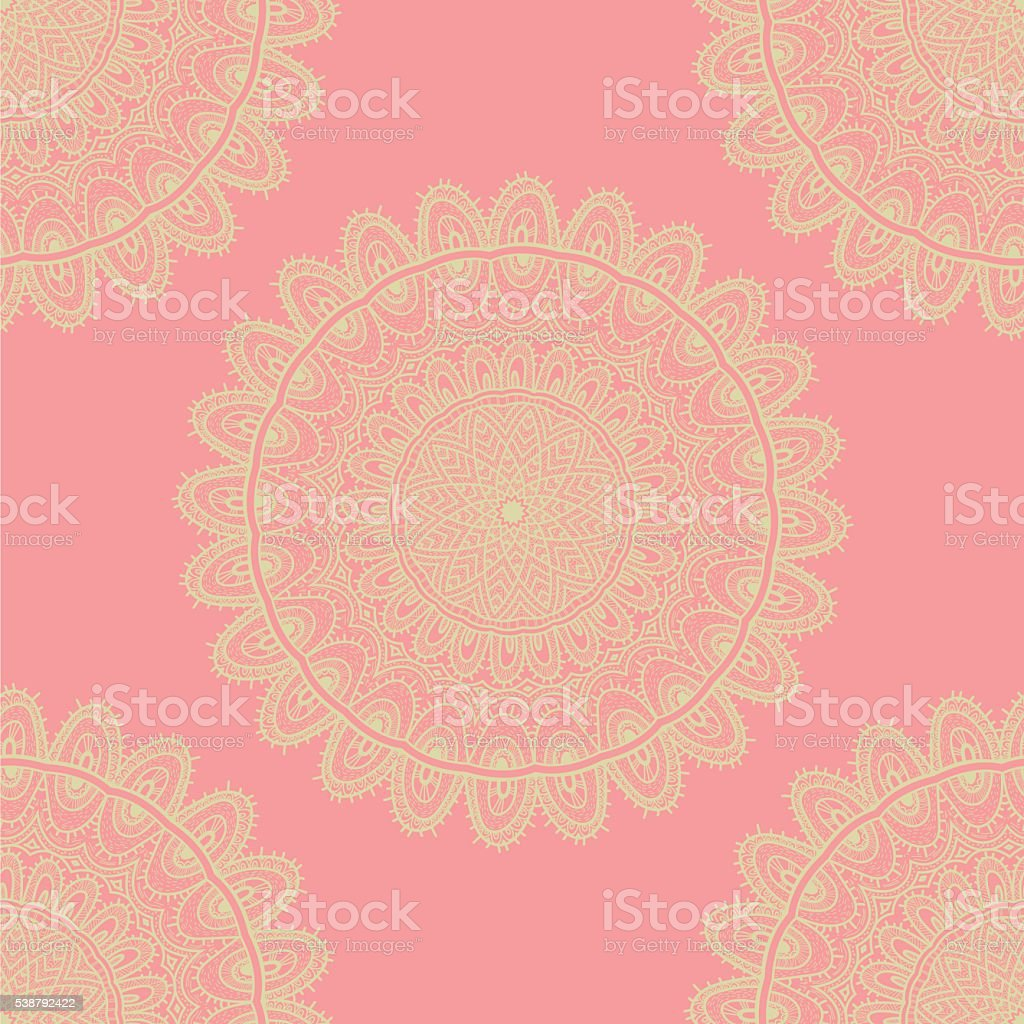 Vector nature seamless pattern with abstract ornament. vector art illustration