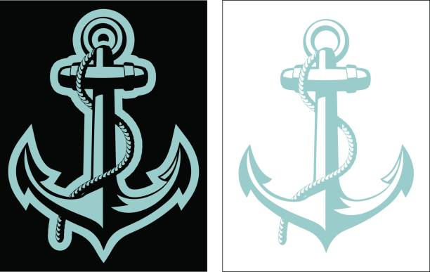Vector Nautical Anchor vector art illustration