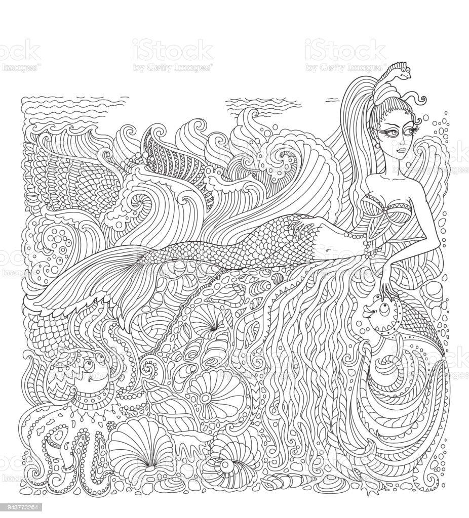 Deniz Kabuğu Boyama Sayfası
