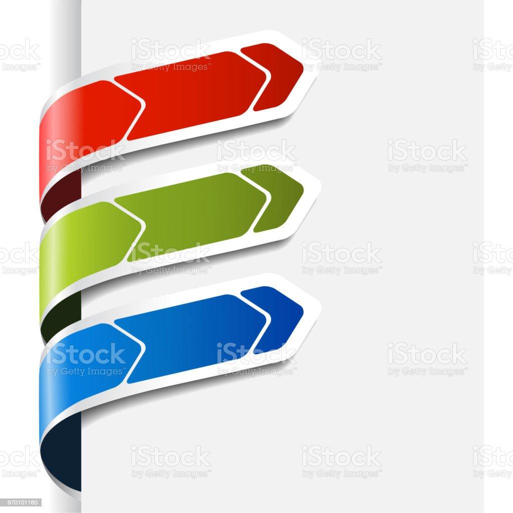Ilustración de Vector Las Teclas De Navegación Botones Etiquetas En ...