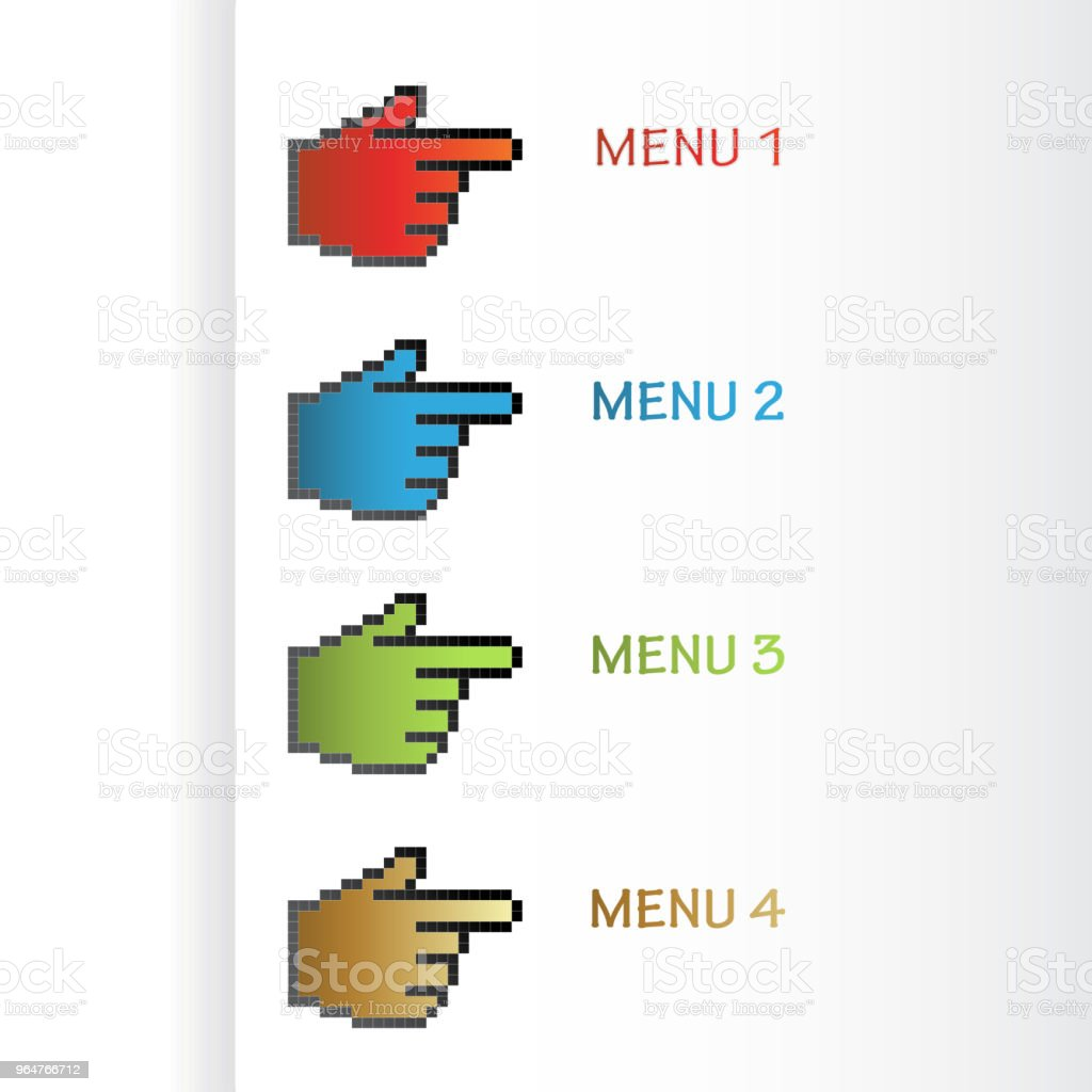 Vector navigation cursors of hand, labels on the white background. Usable for a link, Read more, Next, Join now, Subscribe, Registration, Buy now or menu options, color stickers royalty-free vector navigation cursors of hand labels on the white background usable for a link read more next join now subscribe registration buy now or menu options color stickers stock vector art & more images of badge
