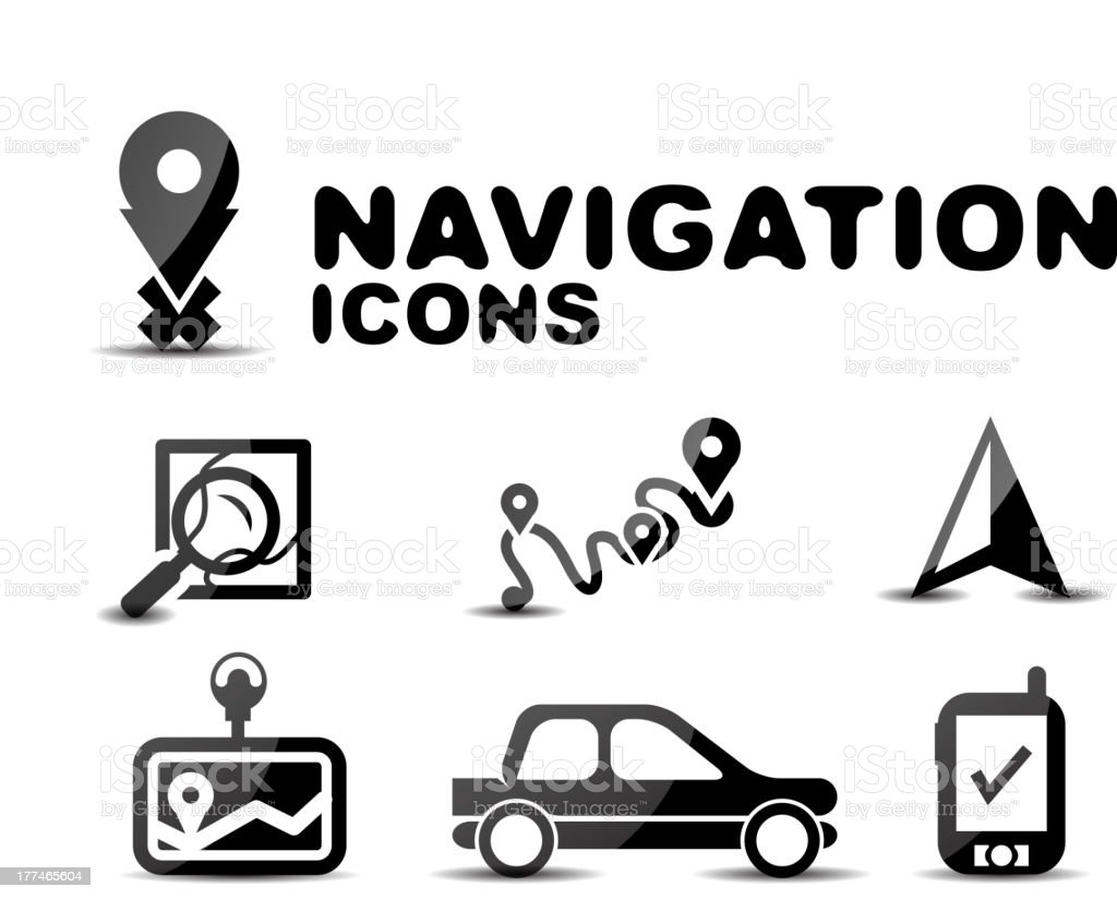 Vector navigation icons royalty-free vector navigation icons stock vector art & more images of aiming
