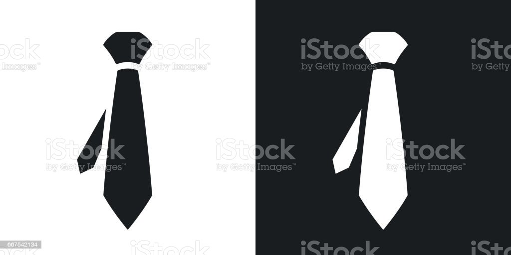 Vector necktie icon. Two-tone version vector art illustration