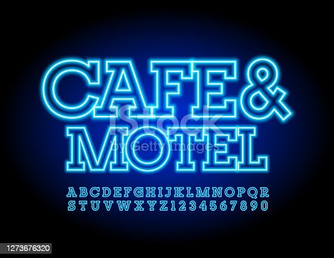 Blue electric Font