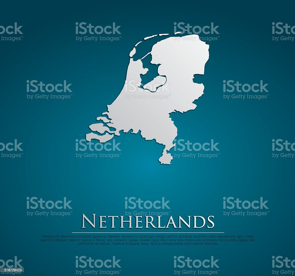 vector Netherlands Map card paper vector art illustration