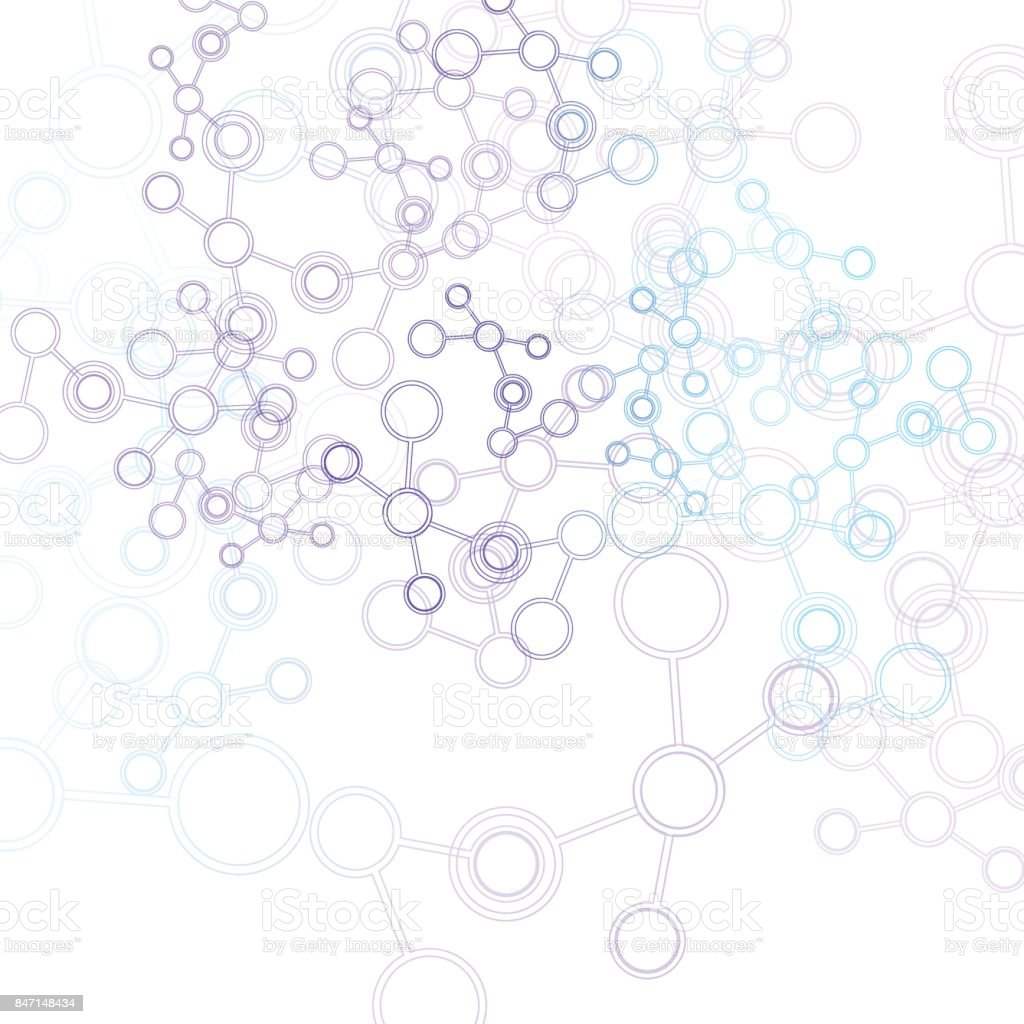 Vector network background for presentation. Connect concept vector art illustration