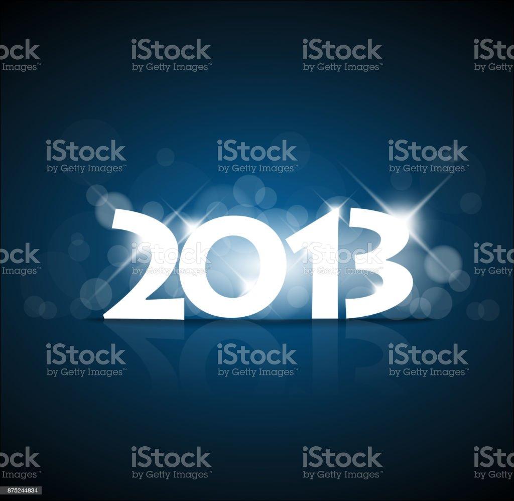 Vector New Year card 2013 vector art illustration
