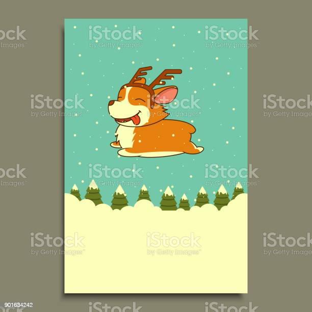 Vector new year dog on winter forest background welsh corgi dog for vector id901634242?b=1&k=6&m=901634242&s=612x612&h=gxevbv7mfnqh hn0rzdqrdp3bhqjrupqz3hjyvbswug=