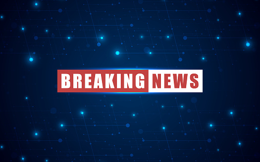 Vector News Background Breaking News Breaking News Modern Concept Stock Illustration - Download Image Now