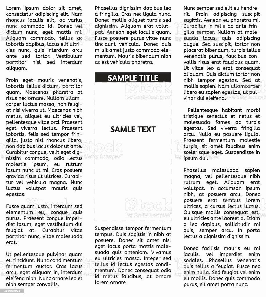 Vector newspaper vector art illustration