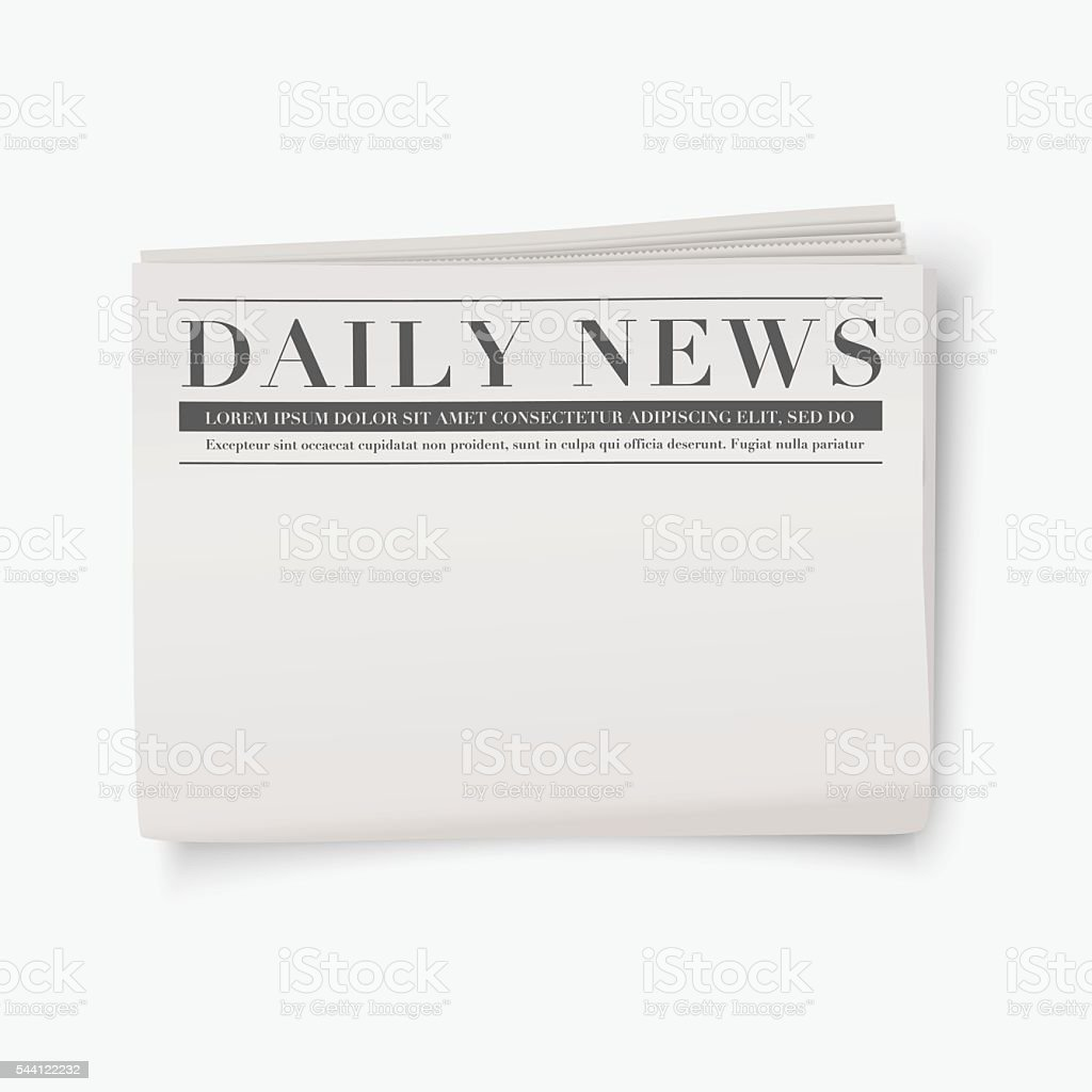 vector newspaper with blank space for design stock