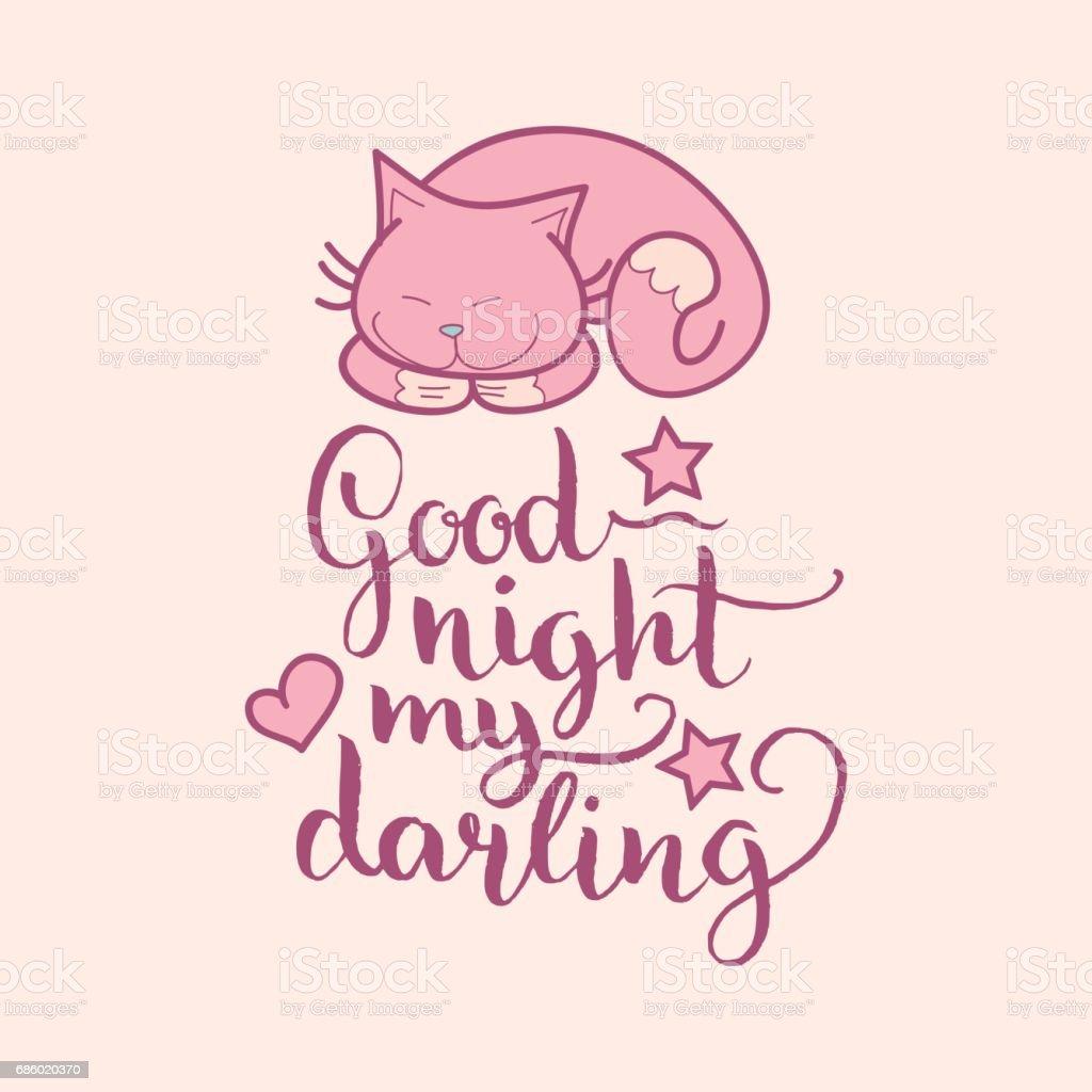 Vetores De Ilustracao Em Vetor Noite Bonita Boa Noite Meu Querido