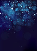 Night starry sky. Winter Christmas background.