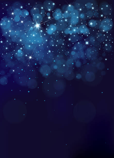 illustrazioni stock, clip art, cartoni animati e icone di tendenza di vector night starry sky background. - stelle