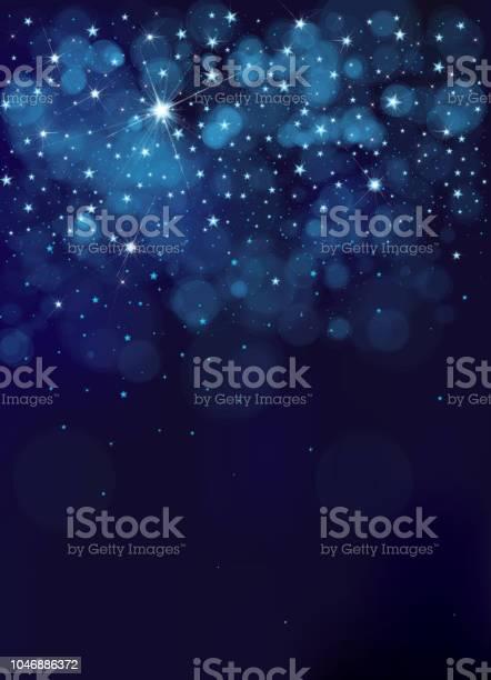 Vetores de Vetor De Fundo Do Céu Noturno Estrelado e mais imagens de Abstrato