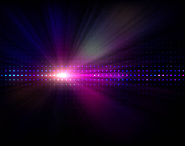 Vector Nightlife Background Vector abstract background with led display and light - rays nightclub stock illustrations