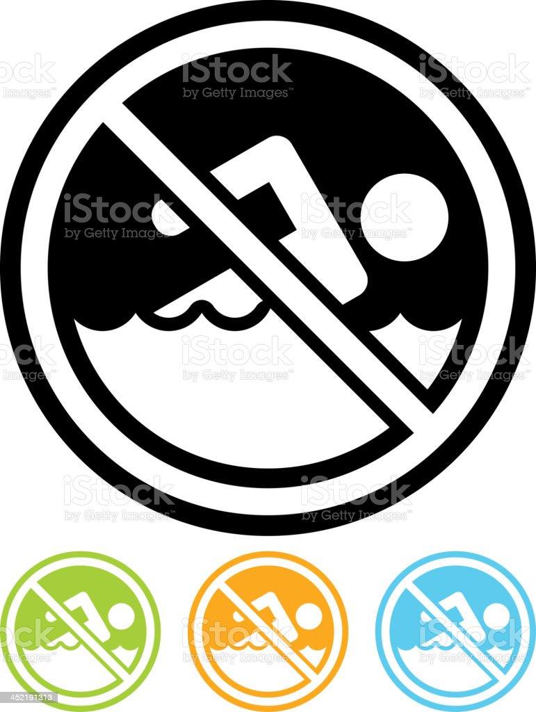 Vector no swimming sign royalty-free stock vector art