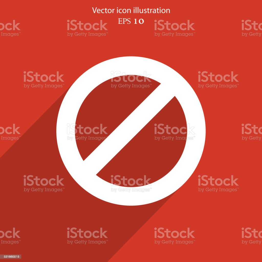 Vector not allowed sign web icon vector art illustration