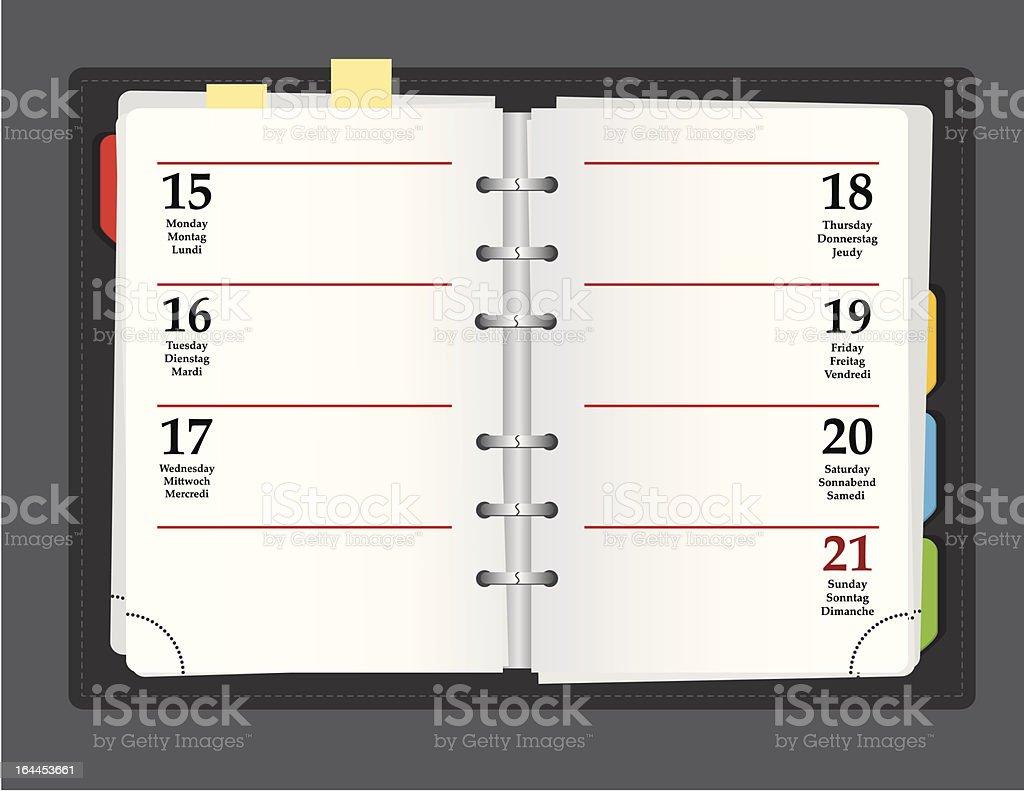 vector notebook royalty-free stock vector art