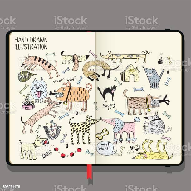 Vector notebook with shadows and hand drawn doodles funny dogs set vector id697271476?b=1&k=6&m=697271476&s=612x612&h=ht11xrq1xat0jjf riyl7bm7bfxoetmxmohwfmfeyhs=