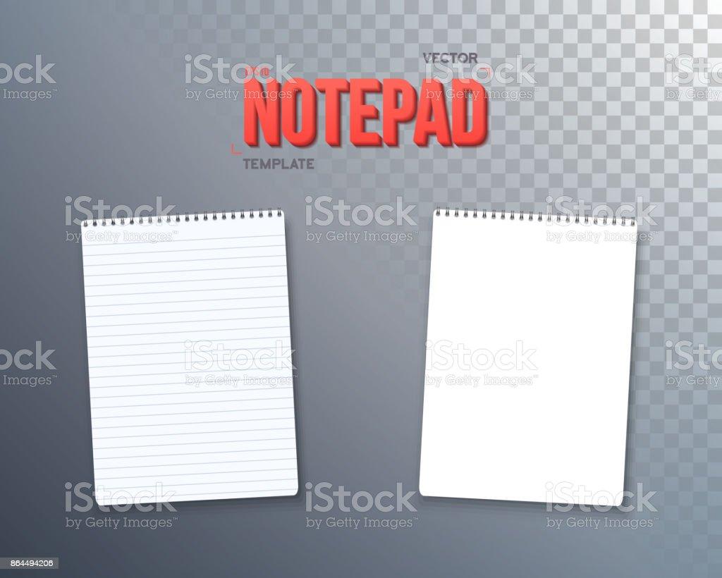 Ilustración de Vector Plantilla De Bloc De Notas Libro De Texto De ...