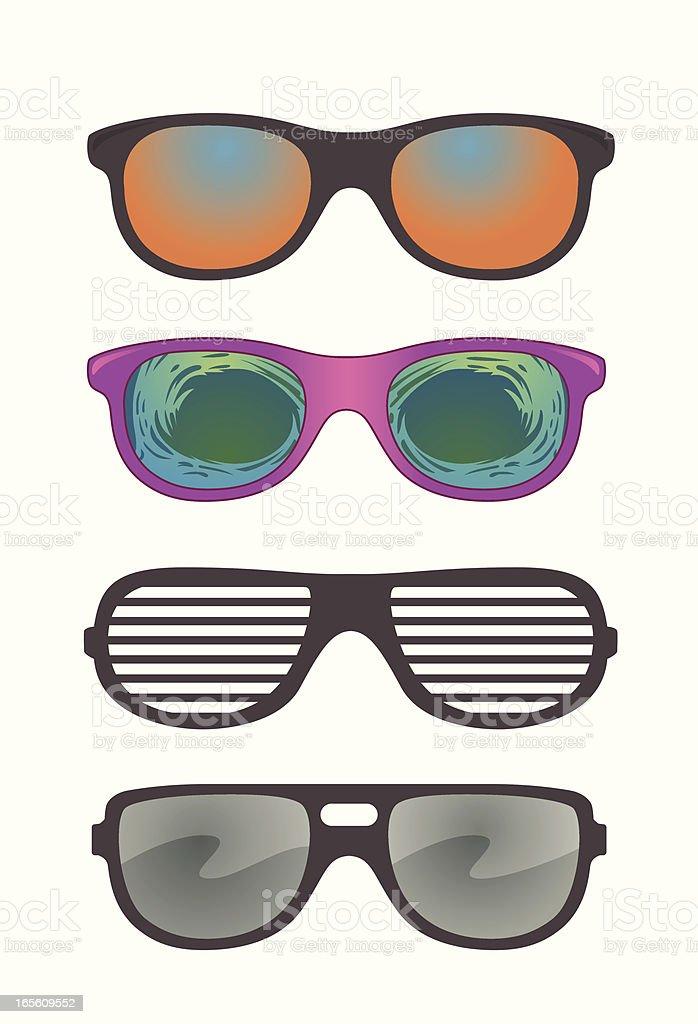 Vector Novelty Sunglasses Assortment vector art illustration