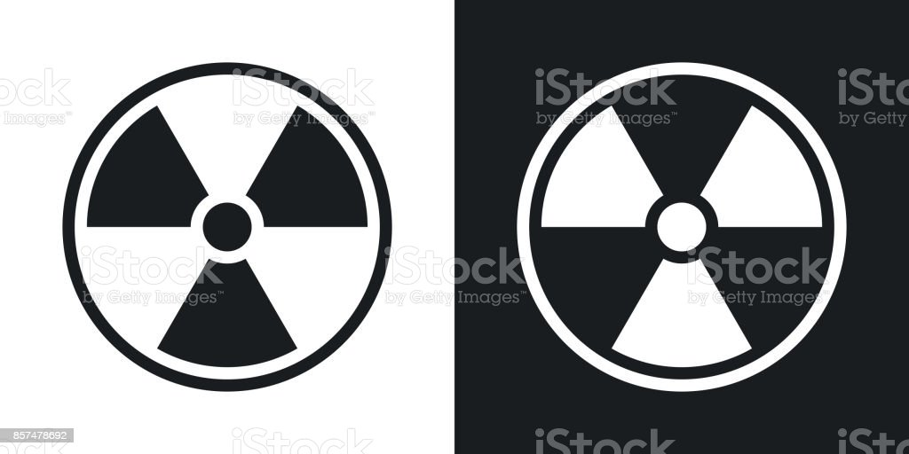 Vector nuclear sign or icon. Two-tone version vector art illustration