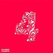 Musical numbers set - number 4