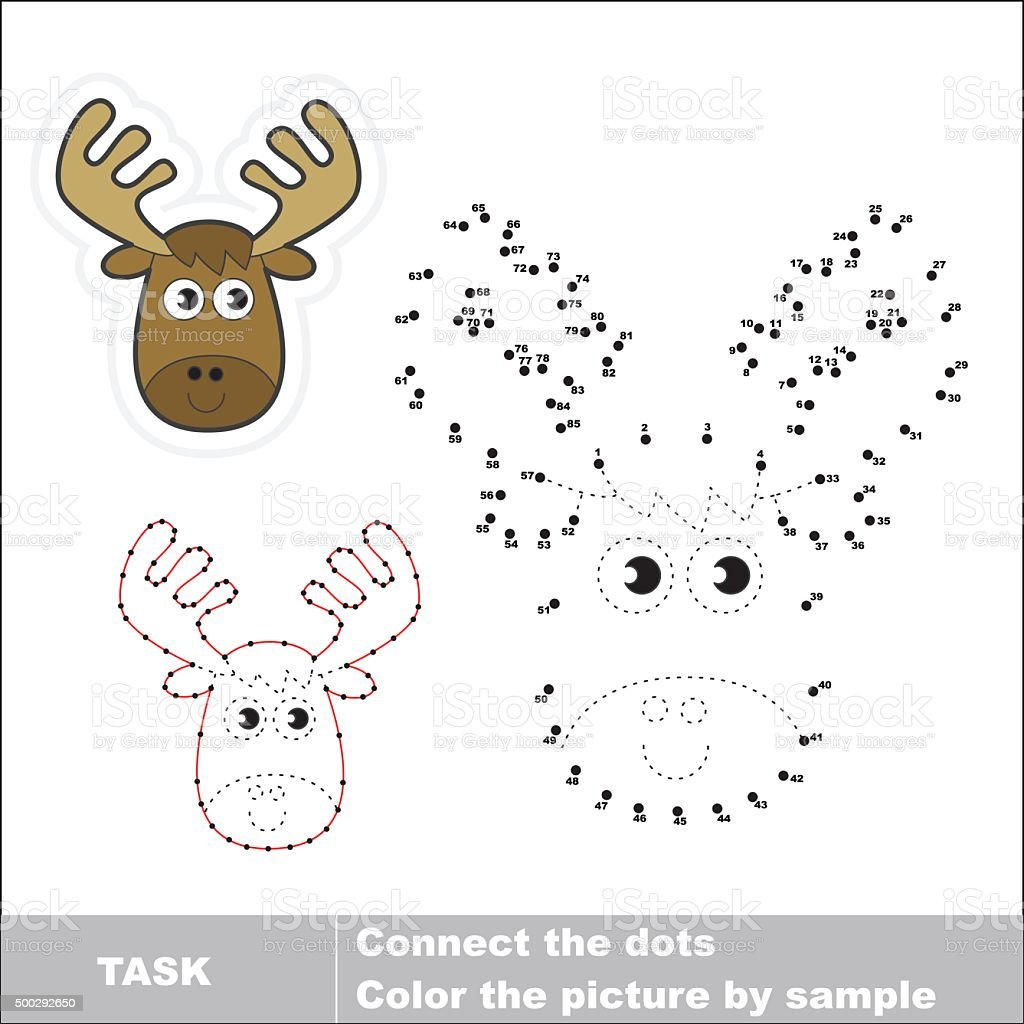 Vector numbers game. Elk to be traced