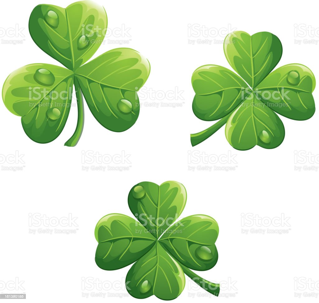 vector object to the St. Patrick's Day Clover-EPS10