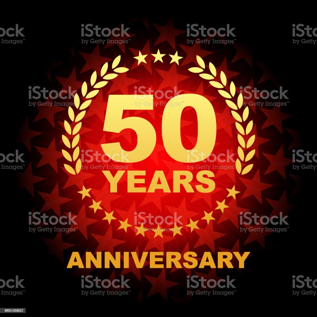 Fifty year anniversary icon with red color star shape background royalty-free fifty year anniversary icon with red color star shape background stock vector art & more images of 50th anniversary