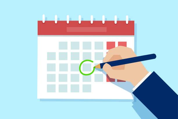 83,727 Calendar Date Circled Illustrations & Clip Art - iStock