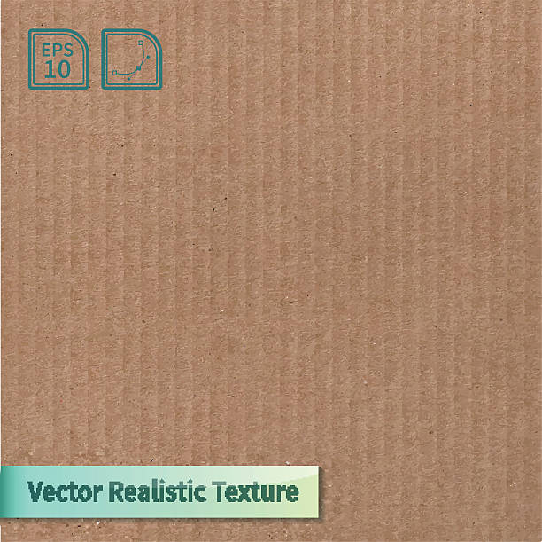 stockillustraties, clipart, cartoons en iconen met a vector of a cardboard texture background  - karton