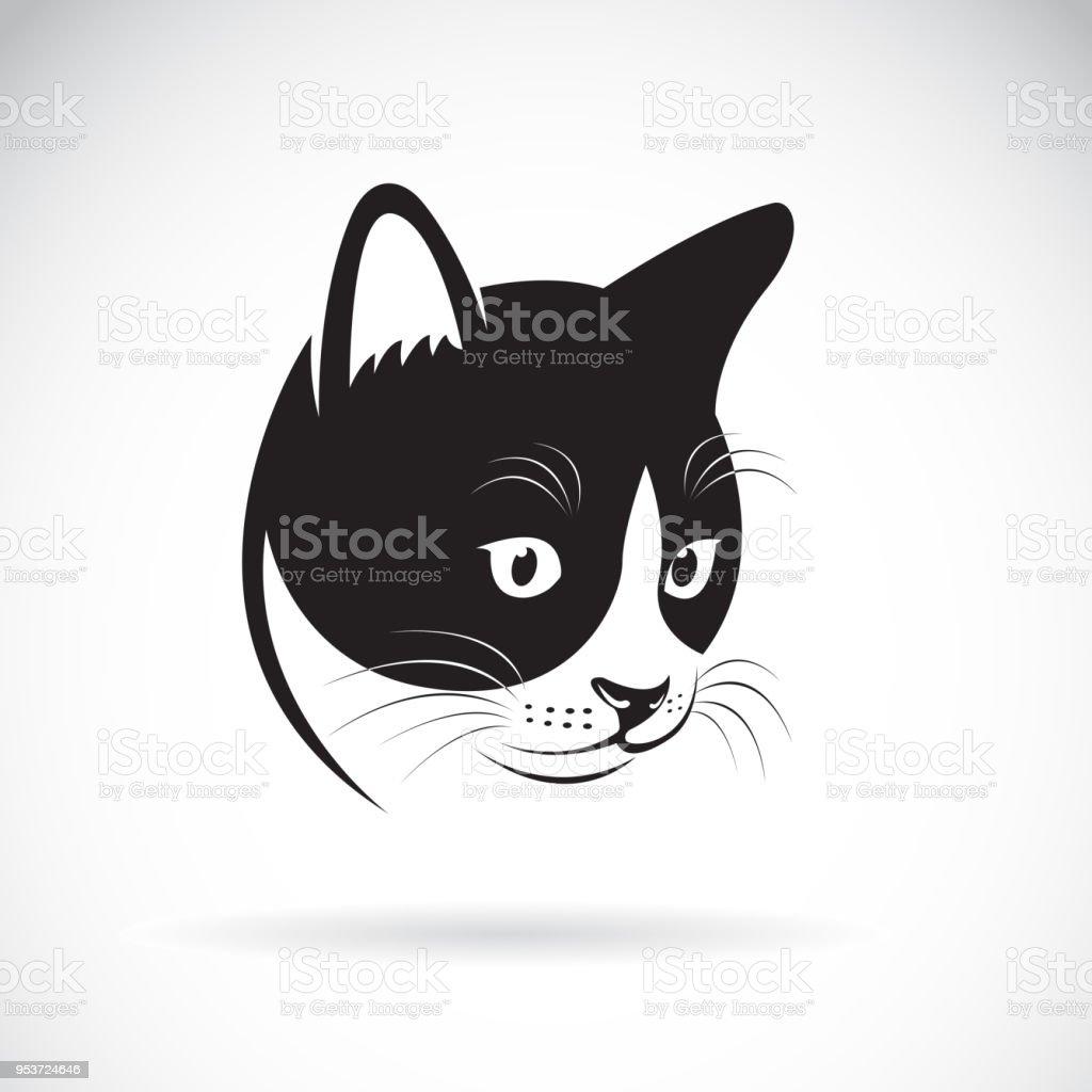 Beyaz Arka Plan Uzerinde Bir Kedi Bas Tasarim Vektor Pet Hayvan