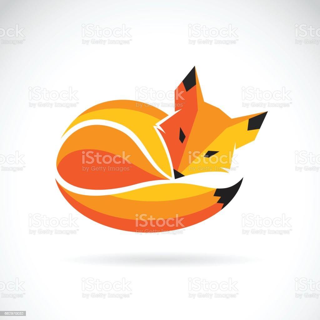 Vector de un diseño de fox sobre un fondo blanco, los animales salvajes - ilustración de arte vectorial