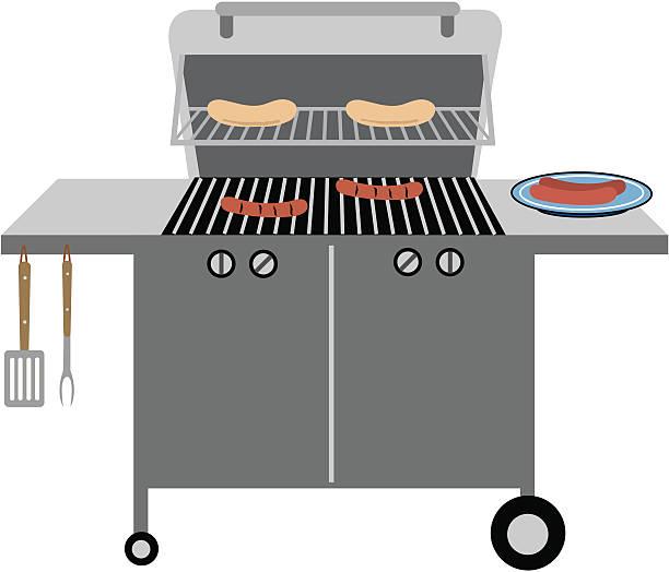 ilustrações de stock, clip art, desenhos animados e ícones de grelha de churrasco - burned cooking