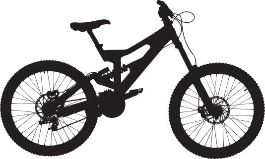 Vector of a mountain bike