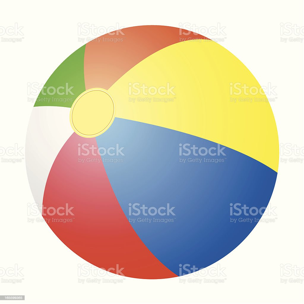 Vector of a multicolor beach ball vector art illustration