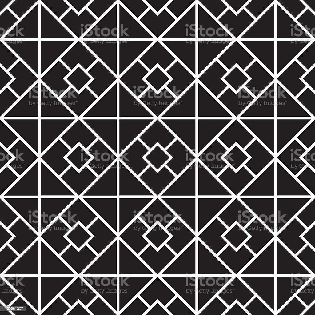 Vector of a pattern with white squares on black background  royalty-free stock vector art
